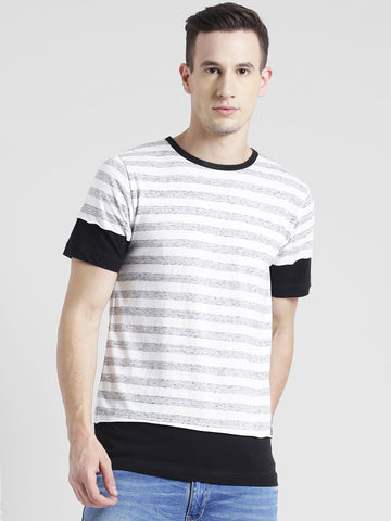 Striped Multi panel T-Shirt