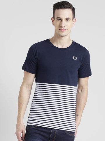 Stripe Navy Color T-shirt