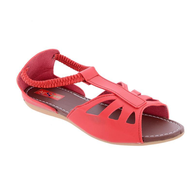 AirSoon Women Red Color Flats