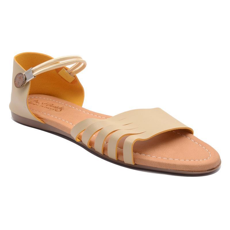 AirSoon Women's Golden Color Sandal For Party Wear