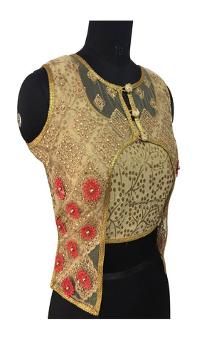 Gold Color Fashion Neck Blouse