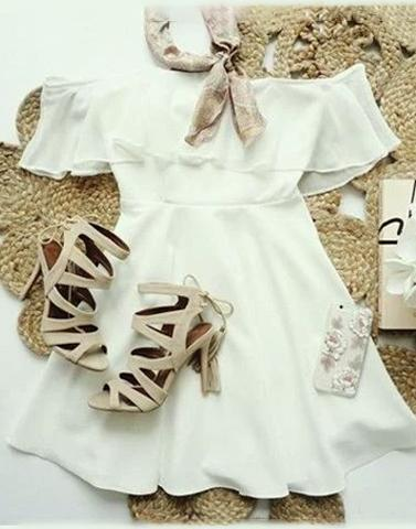 A Crush On Casual Dress In White