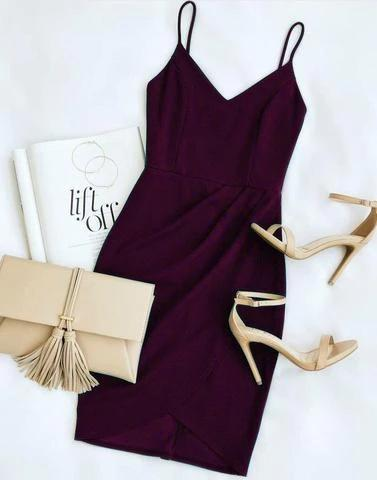 Gracious Wine Party Dress