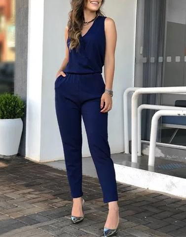 Carefree Blue Babe Jumpsuit
