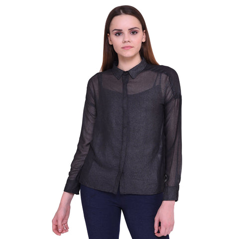 Dare Above All Casual Full Sleeve Solid Women's Shirt