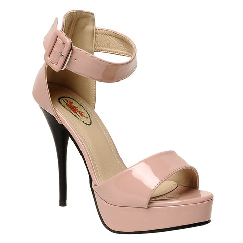 MSC Women Peach Synthetic Stilettos