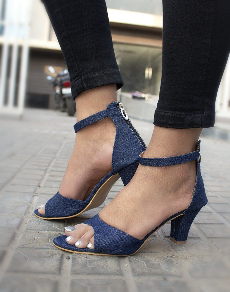 Denim Cool Heels