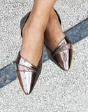 Metallic Pointed Flats