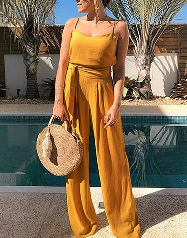 Sun Drenched Mustard Yellow Jumpsuit