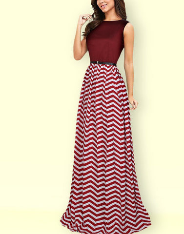 Classy Maroon Long Gown