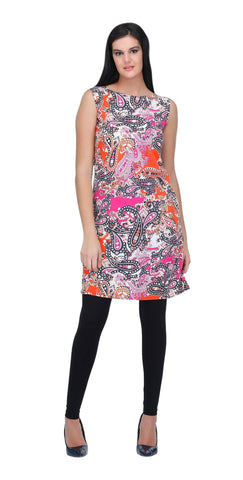 Multicolor Paisley Printed Shift Dress
