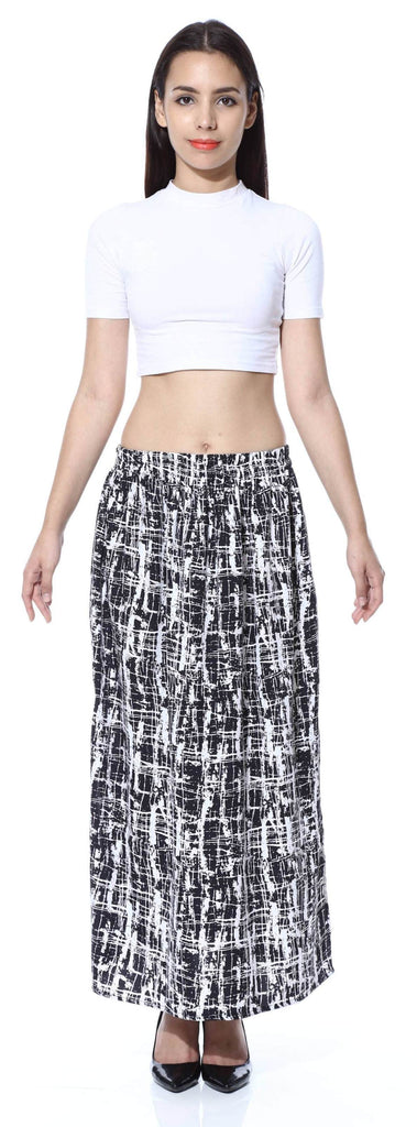 Black n White Stroke Double Slit skirt
