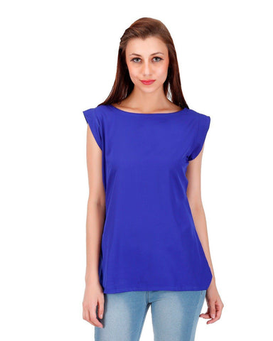 Solid royal blue Top