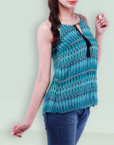 Women's Casual Wear Blue Top