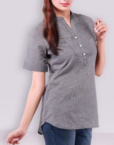 Casual Wear Gray Tees