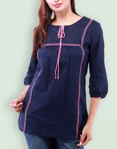 Women's Casual Wear Navy Top