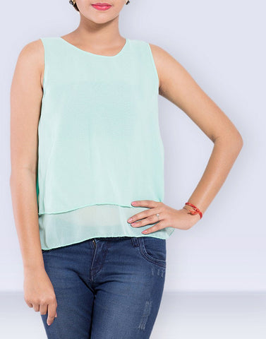 Layered Georgette Plain Top
