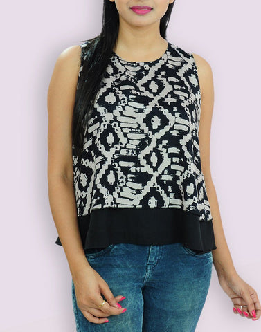 Women's Casual Wear Santoon Black Top