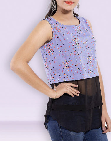 Casual Wear Net Georgette Top