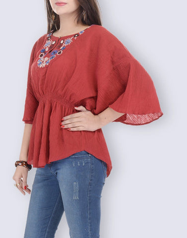 Kaftan Look Cotton Top