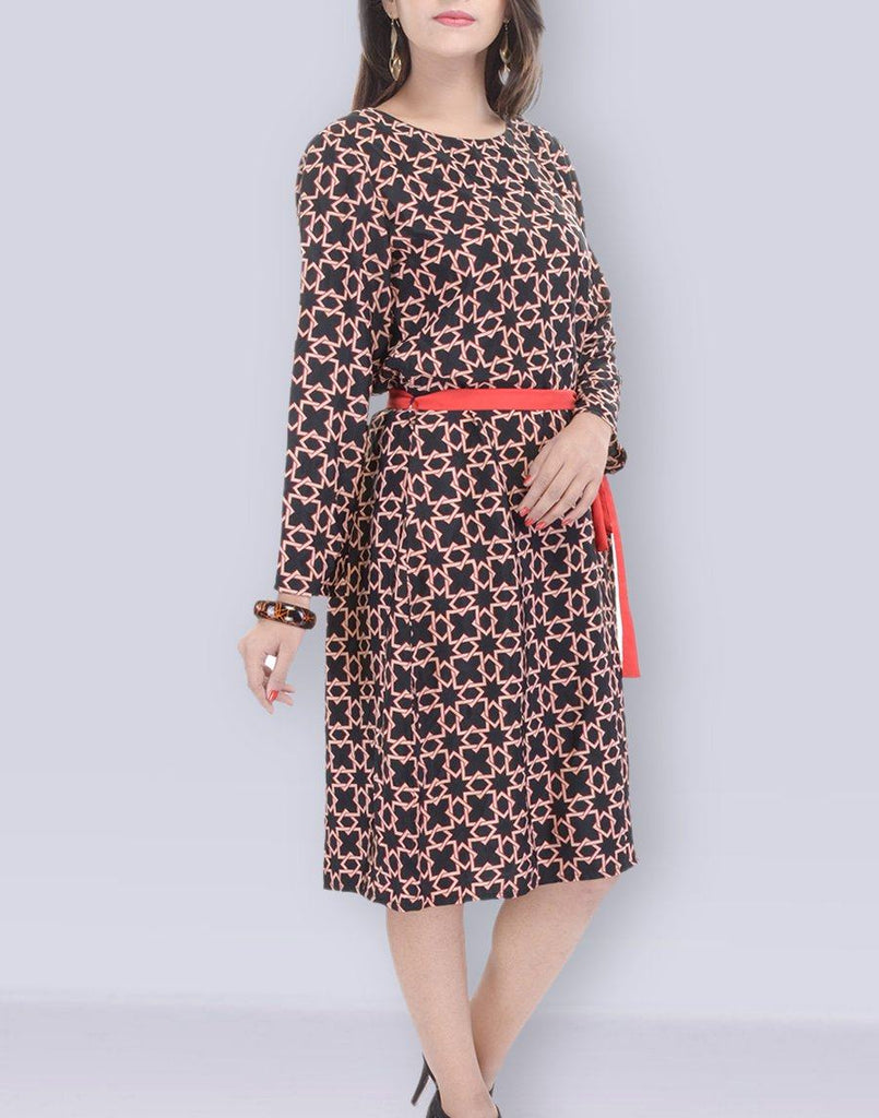Black Casual Polyster Dress