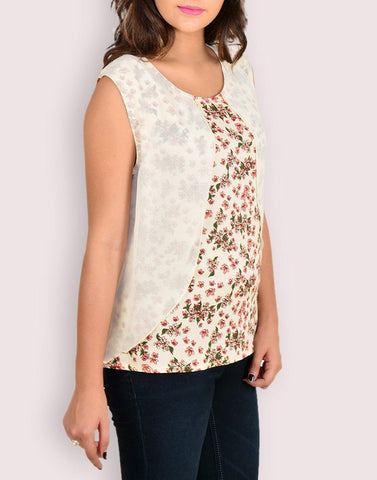 Floral Print Rayon Top