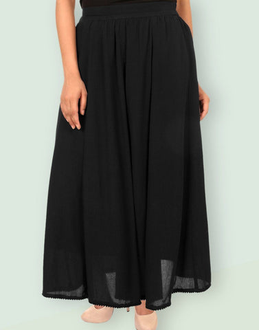 Women's Casual Rayon Crepe Solid Skirt