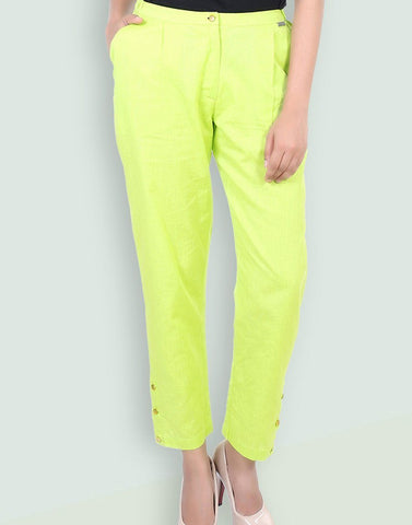 Women's Casual Cotton Solid Pant