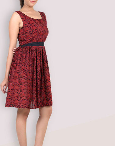 Casual Rayon Printed Dress