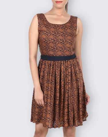 Rayon Casual Printed Dress