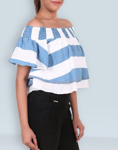 Drop Shouder  Printed Top