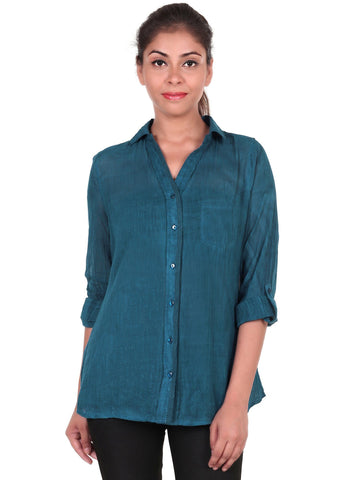 Women's Casual Cotton Solid Shirt