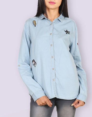 Stylish Daily Wear Denim Shirt