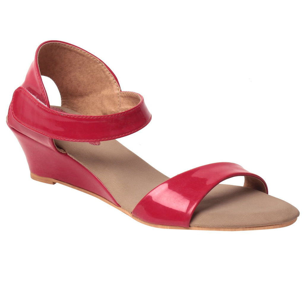 MSC Women Synthetic Red Sandal