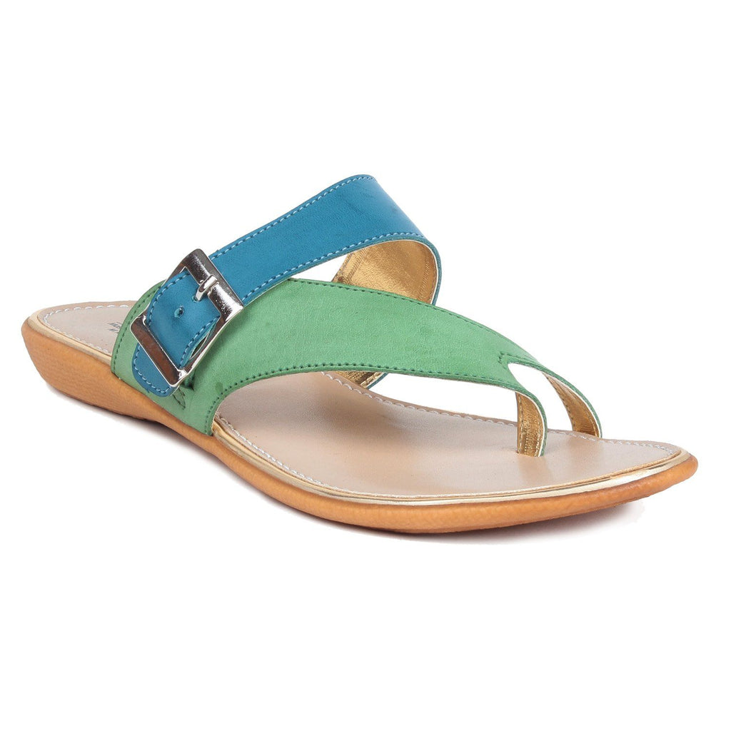 MSC Women Synthetic Turquoise Flat