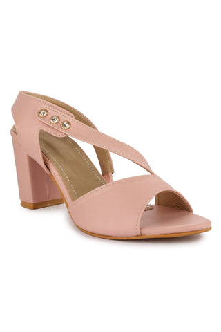 Pink Sling Stylish Heels
