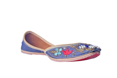MSC Hand Embroidered Genuine Leather Juttis