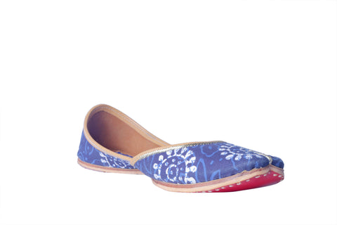 MSC Solid Hand Printed Genuine Leather Juttis