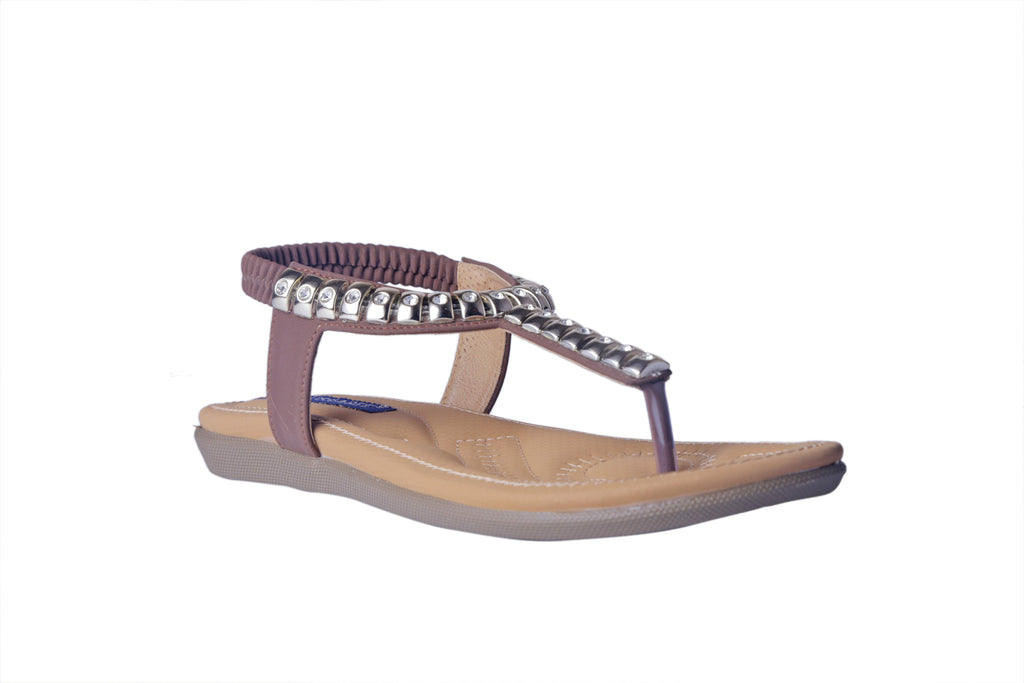 MSC Women Synthetic Brown Sandal