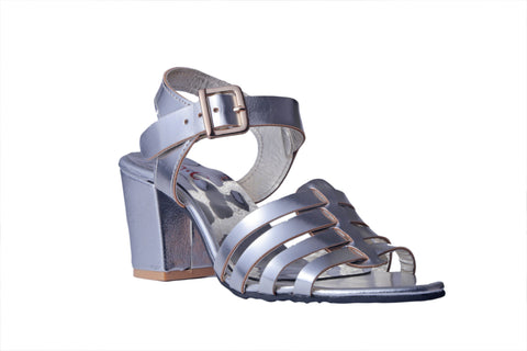 MSC Women Synthetic Silver Heels