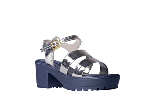 MSC Women Synthetic Silver Wedges