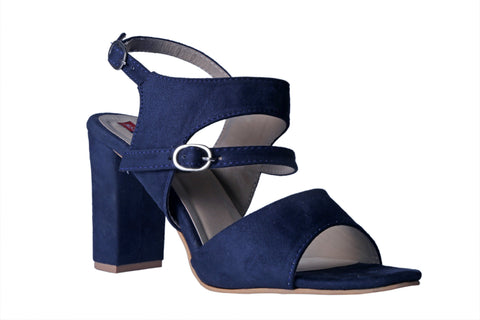 MSC Women Suede Leather Blue Heels