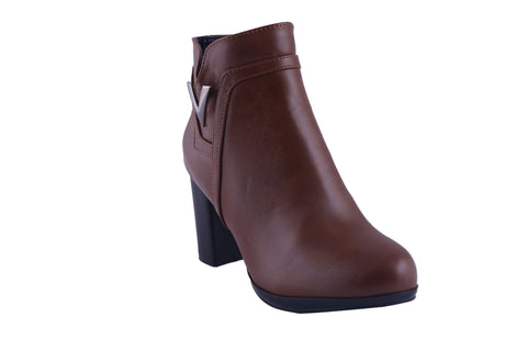 MSC Women Synthetic Brown Boots