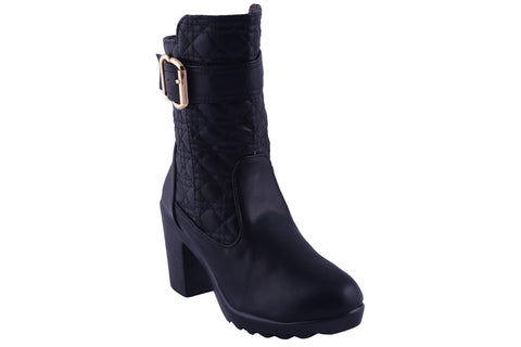 MSC Women Synthetic Black Boots