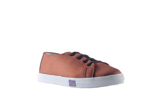 MSC Women Suede Leather Tan Sneakers