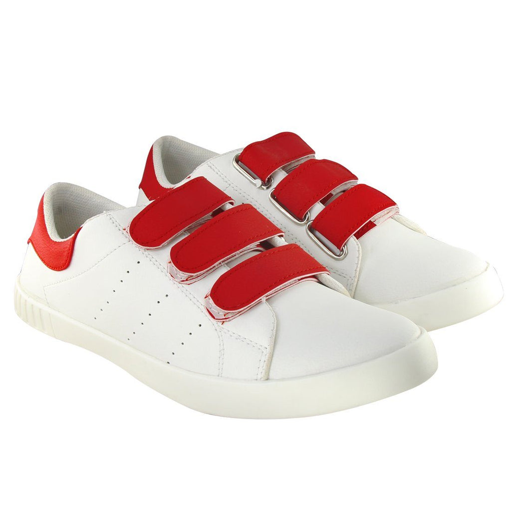 Blinder white Red Velcro Casual Sneakers Shoes For Men