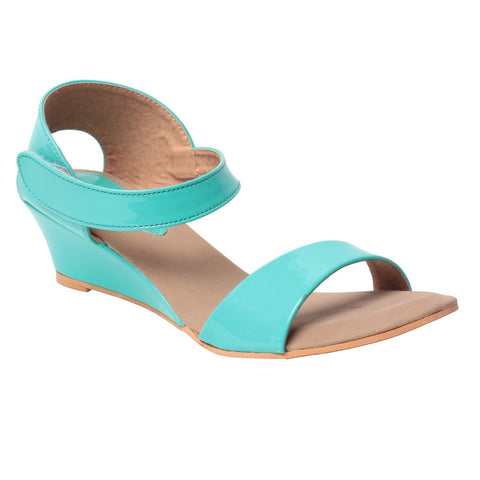 MSC Women Synthetic Green Sandal