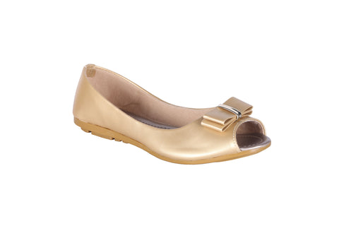 MSC Women  Synthetic Gold Belly shoe