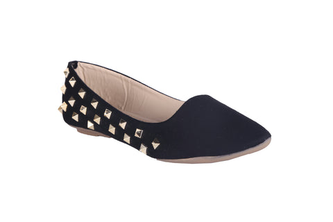 MSC Women  Suede Black Belly shoe
