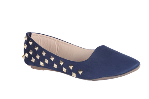 MSC Women  Suede Blue Belly shoe
